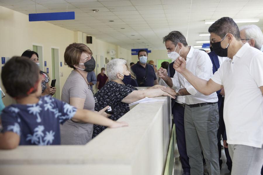 Kάλεσμα ενότητας και εμβολιασμού από το Ηράκλειο έκανε ο Κυριάκος Μητσοτάκης