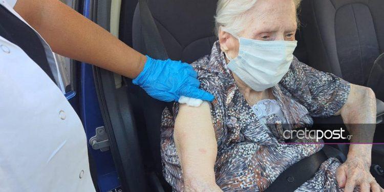 Αιωνόβια στο Ηράκλειο έκανε το εμβόλιο - Συγκινεί η δήλωσή της